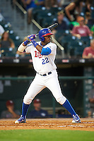Buffalo Bisons center fielder Junior Lake (22) at bat during a game against the Lehigh Valley IronPigs on August 29, 2016 at Coca-Cola Field in Buffalo, New York.  Buffalo defeated Lehigh Valley 3-2.  (Mike Janes/Four Seam Images)