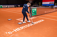 Den Bosch, The Netherlands, April 17, 2021,    Maaspoort, Billie Jean King Cup  Netherlands -  China ,<br /> Photo: Tennisimages/Henk Koster