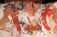 Europe/France/Aquitaine/33/Gironde/Quinsac: Cave coopérative (AOC Premières côtes de Bordeaux) - Détail freques répertoriées du peintre Charazac