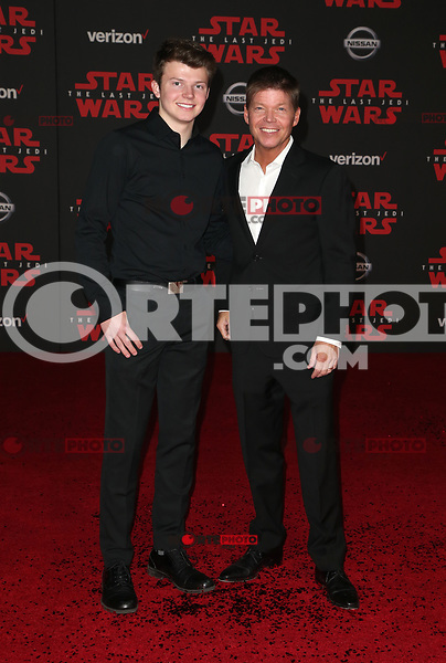 LOS ANGELES, CA - DECEMBER 9: Rob Liefeld, Chase Liefeld, at Premiere Of Disney Pictures And Lucasfilm's 'Star Wars: The Last Jedi' at Shrine Auditorium in Los Angeles, California on December 9, 2017. Credit: Faye Sadou/MediaPunch /NortePhoto.com NORTEPHOTOMEXICO