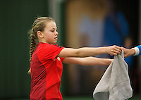 Januari 24, 2015, Rotterdam, ABNAMRO, Supermatch, Ballgirl<br /> Photo: Tennisimages/Henk Koster