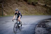 Marco Brenner (DEU/DSM) up the climb towards La Plagne (HC/2072m/17.1km@7.5%) <br /> <br /> 73rd Critérium du Dauphiné 2021 (2.UWT)<br /> Stage 7 from Saint-Martin-le-Vinoux to La Plagne (171km)<br /> <br /> ©kramon