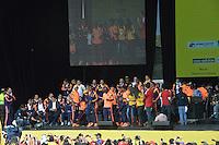 BOGOTA -COLOMBIA. 06-07-2014. Los integrantes de la selección Colombia de fútbol tuvieron un multitudinario recibimiento en el parque Simón Bolivar de Bogotá, hoy 6 de julio de 2014 después de su decorosa participación en la Copa Mundial de la FIFA Brasil 2014./ The members of the Colombian Soccer team had a massive greet at the Simon Bolivar Park Bogota, today July 6, 2014 after their decorous participation in the FIFA World Cup Brazil 2014. Photo: VizzorImage / Stringer /