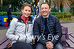Relaxing in the playground in the Killarney National park on Sunday, l to r: Nick O'Connell and Jennifer Cahill.