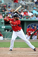 Boston Red Sox  outfielder Bryce Brentz (73) during a Spring Training game against the New York Mets on March 16, 2015 at JetBlue Park at Fenway South in Fort Myers, Florida.  Boston defeated New York 4-3.  (Mike Janes/Four Seam Images)