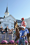 1 November 2009: Robby Albarado aboard Sassy Image in the paddock before the running of the G3 Pocahontas Stakes at Churchill Downs in Louisville, Kentucky.