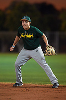 Raul Marquez (50), from Hammond, Indiana, while playing for the Athletics during the Under Armour Baseball Factory Recruiting Classic at Gene Autry Park on December 27, 2017 in Mesa, Arizona. (Zachary Lucy/Four Seam Images)