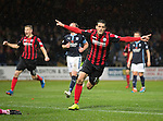 Dundee v St Johnstone....08.11.14   SPFL<br /> Brian Graham celebrates his goal<br /> Picture by Graeme Hart.<br /> Copyright Perthshire Picture Agency<br /> Tel: 01738 623350  Mobile: 07990 594431