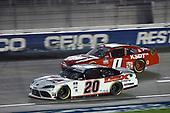 #20: Harrison Burton, Joe Gibbs Racing, Toyota Supra Dex Imaging, #0: BJ McLeod, JD Motorsports, Chevrolet Camaro TeamJDMotorsports.com