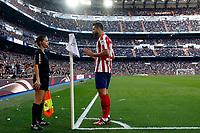 Atletico de Madrid's Felipe disscus to assistant referee during La Liga match. Feb 01, 2020. (ALTERPHOTOS/Manu R.B.)<br /> 01/02/2020 <br /> Liga Spagna 2019/2020 <br /> Real Madrid - Atletico Madrid  <br /> Foto Alterphotos / Insidefoto <br /> ITALY ONLY