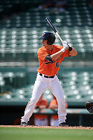 Baltimore Orioles Matthew Beaird (61) at bat during a Florida Instructional League game against the Philadelphia Phillies on October 4, 2018 at Ed Smith Stadium in Sarasota, Florida.  (Mike Janes/Four Seam Images)