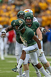 Baylor Bears safety JT Woods (22) in action during the game between the Kansas Jayhawks and the Baylor Bears at the McLane Stadium in Waco, Texas.
