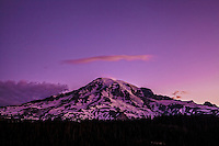 A Purple Glow Around Mt. Rainier
