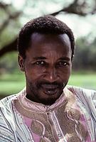 Niamey, Niger, West Africa.  Malian Songhrai, Mahamadou Maiga, from Ansongo, Eastern Mali.  This man works in Niamey, Niger.