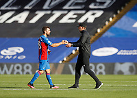 12th September 2020; Selhurst Park, London, England; English Premier League Football, Crystal Palace versus Southampton; Southampton Manager Ralph Hasenhuttl  fist bumps James McArthur of Crystal Palace after full time