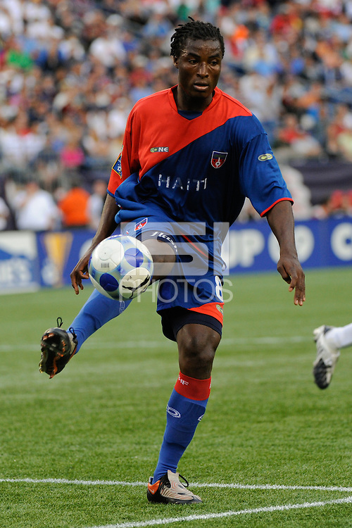 Judelin Aveska (8) of Haiti (HAI). The United States and Haiti played to a 2-2 tie during a CONCACAF Gold Cup Group B group stage match at Gillette Stadium in Foxborough, MA, on July 11, 2009. .