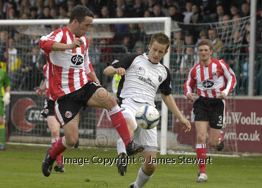 21/04/2007       Copyright Pic: James Stewart.File Name : sct_jspa19_gretna_v_clyde.DOUGLAS IMRIE AND AND BRENDAN MCGILL CHALLENGE......James Stewart Photo Agency 19 Carronlea Drive, Falkirk. FK2 8DN      Vat Reg No. 607 6932 25.Office     : +44 (0)1324 570906     .Mobile   : +44 (0)7721 416997.Fax         : +44 (0)1324 570906.E-mail  :  jim@jspa.co.uk.If you require further information then contact Jim Stewart on any of the numbers above.........
