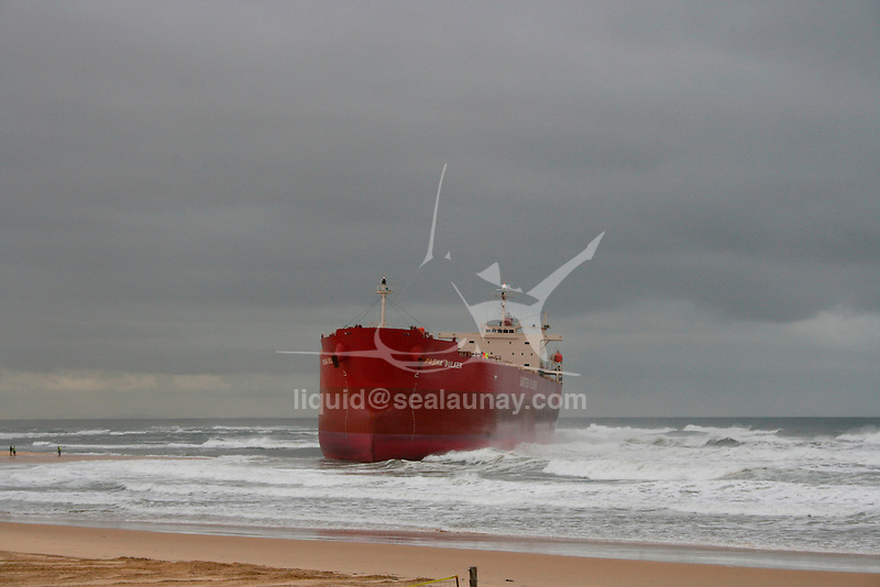 The MV Pasha Bulker is a Panamax bulk carrier of 76,741 metric tons deadweight (DWT) operated by the Lauritzen Bulkers Shipping company and owned by Japanese Disponent Owners.  While waiting in the open ocean outside the harbour to load coal the Pasha Bulker ran aground during a major storm on 8 June 2007 on Nobbys Beach in Newcastle, New South Wales, Australia. It was refloated and moved to a safe location offshore on 2 July 2007 at 9:48 p.m. AEST before being towed to Japan for major repairs on 26 July 2007..