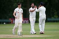 Z Shahzad of Wanstead celebrates taking the wicket of J Hebron during Wanstead and Snaresbrook CC (fielding) vs Brentwood CC, Hamro Foundation Essex League Cricket at Overton Drive on 19th June 2021