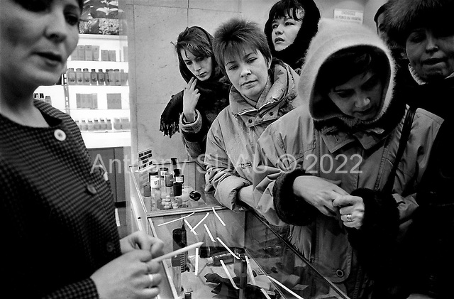Moscow, Russia.1994.Perfume store