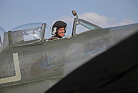 Norwegian Spitfire Foundation invited Norwegian WWII  Spitfire veterans to fly in Spitfire, at the historical airfield Kjeller in Norway.  Front seat pilot was Eskil Amdal, currently the lead fast-jet pilot in the RNoAF with responsibility for the F-16 and F-35.