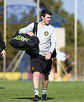 20190228 - LARNACA , CYPRUS : Belgian physical trainer Gil Benedetti pictured during a Matchday -1 training from The Belgian Red Flames prior to their game against the women team of Austria , on Thursday 28 February 2019 at the Alpha Sports Grounds in Larnaca , Cyprus . This will be the second game in group C for Belgium during the Cyprus Womens Cup 2019 , a prestigious women soccer tournament as a preparation on the European Championship 2021 qualification duels. PHOTO SPORTPIX.BE | DAVID CATRY
