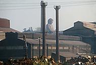October, 1980. Nagoya, Japan. The Nagoya Buddha located in the industrial area of Nagoya.