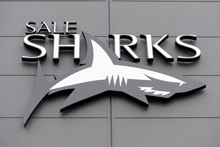 20130310 Copyright onEdition 2013©.Free for editorial use image, please credit: onEdition..Detail of the Sale Sharks logo outside the Salford City Stadium during the LV= Cup semi final match between Sale Sharks and Saracens at the Salford City Stadium on Sunday 10th March 2013 (Photo by Rob Munro)..For press contacts contact: Sam Feasey at brandRapport on M: +44 (0)7717 757114 E: SFeasey@brand-rapport.com..If you require a higher resolution image or you have any other onEdition photographic enquiries, please contact onEdition on 0845 900 2 900 or email info@onEdition.com.This image is copyright onEdition 2013©..This image has been supplied by onEdition and must be credited onEdition. The author is asserting his full Moral rights in relation to the publication of this image. Rights for onward transmission of any image or file is not granted or implied. Changing or deleting Copyright information is illegal as specified in the Copyright, Design and Patents Act 1988. If you are in any way unsure of your right to publish this image please contact onEdition on 0845 900 2 900 or email info@onEdition.com