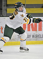 9 February 2008: University of Vermont Catamounts' forward Kristi Anderson, a Senior from Naperville, IL, in action against the Boston University Terriers at Gutterson Fieldhouse in Burlington, Vermont. The Terriers shut out the Catamounts 2-0 in the Hockey East matchup...Mandatory Photo Credit: Ed Wolfstein Photo