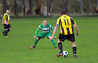 Action from the Manawatu masters football match between PN Marist Banshees and Feiklding United at Ashhurst Domain in Ashhurst, New Zealand on Saturday, 1 August 2020. Photo: Dave Lintott / lintottphoto.co.nz