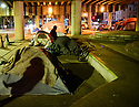 Homeless under the bridge