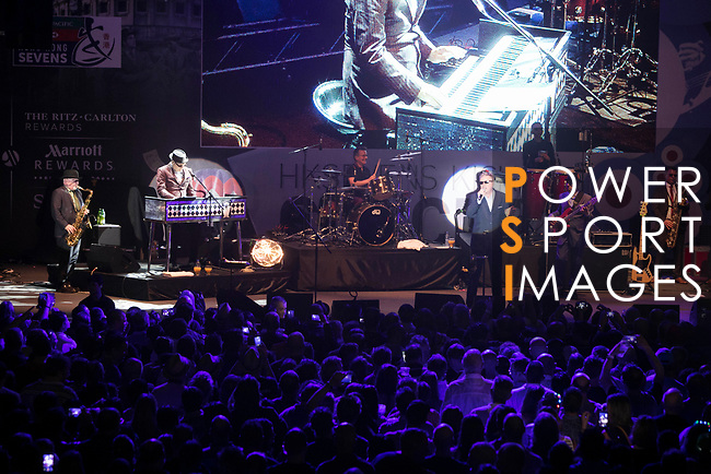 People enjoy the Thursday Night Concert (Madness & The Hex) at the HSBC Hong Kong Rugby Sevens 2017 on 06 April 2017 in Hong Kong Stadium, Hong Kong, China. Photo by King Chung Fung / Power Sport Images