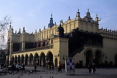 Kracow, Poland; Stare Miasto Old Town city square; the Cloth Hall (Sukiennice).