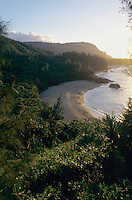 Lumahai Beach at sunset, Kauai, Hawaii, USA, August 1996