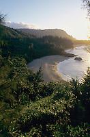 Lumahai Beach at sunset, Kauai, Hawaii, USA, August 1996