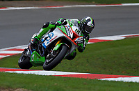 Leon Haslam (91) of JG Speedfit Kawasaki during 2nd practice in the MCE BRITISH SUPERBIKE Championships 2017 at Brands Hatch, Longfield, England on 13 October 2017. Photo by Alan  Stanford / PRiME Media Images.