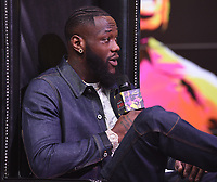 "LOS ANGELES - JANUARY 25: Deontay Wilder attends a Los Angeles press conference on January 25, 2020 for the ""Wilder vs Fury II"" FOX SPORTS PPV & ESPN+ PPV which will take place on Feb. 22 from the MGM Grand Garden Arena in Las Vegas. (Photo by Frank Micelotta/Fox Sports/PictureGroup)"