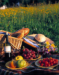 picnic in a flower meadow