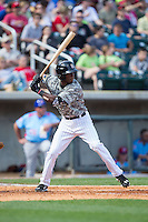 Tim Anderson (7) of the Birmingham Barons at bat against the Tennessee Smokies at Regions Field on May 3, 2015 in Birmingham, Alabama.  The Smokies defeated the Barons 3-0.  (Brian Westerholt/Four Seam Images)