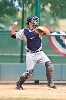 Patrick Leyland of the Gulf Coast League Tigers during the game against the Gulf Coast League Braves July 3 2010 at the Disney Wide World of Sports in Orlando, Florida.  Photo By Scott Jontes/Four Seam Images