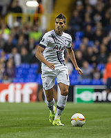 Erik Lamela of Tottenham Hotspur looks for options during the UEFA Europa League match between Tottenham Hotspur and Qarabag FK at White Hart Lane, London, England on 17 September 2015. Photo by Andy Rowland.