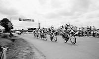 Stijn Devolder (BEL/Trek Factory Racing) at the front of the Trek Factory Racing Team<br /> <br /> stage 9: TTT Vannes - Plumelec (28km)<br /> 2015 Tour de France