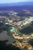 Para State, Brazil; area of rainforest devastated by illegal gold mining by 'garimpeiro' prospectors.