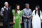 Patrick Page, Amber Gray, Andre De Shields, Rachel Clavkin during Broadway Opening Night Performance Curtain Call for 'Hadestown' at the Walter Kerr Theatre on April 17, 2019 in New York City.