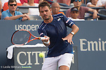 Stanislas Wawrinka (SUI) takes the first two sets from Albert Ramos-Violas (ESP) 7-5, 6-4 at the US Open in Flushing, NY on September 1, 2015.