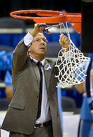 North Carolina head coach Roy Williams during the ACC basketball Tournament  in Charlotte, NC.