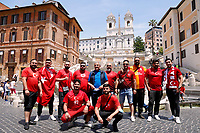 Turkish supporters visiting the Spanish steps in Rome before the first Euro 2020 match, AS Roma - Turkey.<br /> Rome (Italy), June 11th 2021<br /> Photo Samantha Zucchi Insidefoto