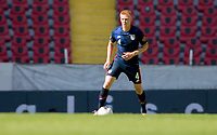 GUADALAJARA, MEXICO - MARCH 18: Justen Glad #4 of the United States looks for an open man downfield during a game between Costa Rica and USMNT U-23 at Estadio Jalisco on March 18, 2021 in Guadalajara, Mexico.