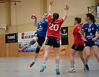 Christine Unnold (Walldorf) gegen Patricia Becker (Darmstadt) - Mörfelden-Walldorf 09.02.2020: TGS Walldorf vs. TGB Darmstadt, Sporthalle
