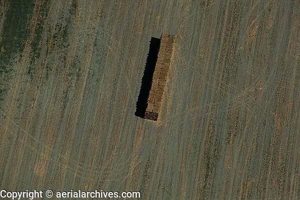 aerial photograph hay harvest Sonoma County, California